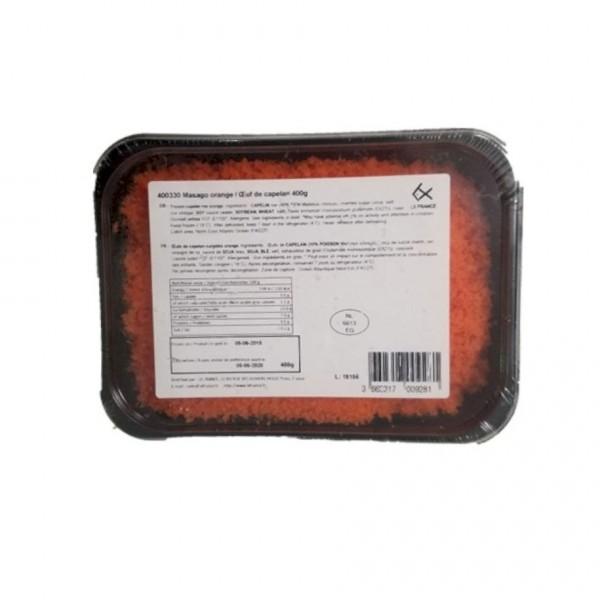 Masago orange / oeuf de capelan 400g*12paquets
