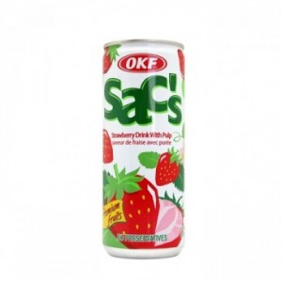 Boisson au jus de fraise...