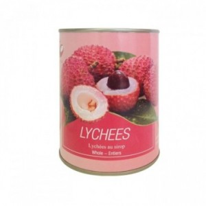 Lychees conserve au sirop...