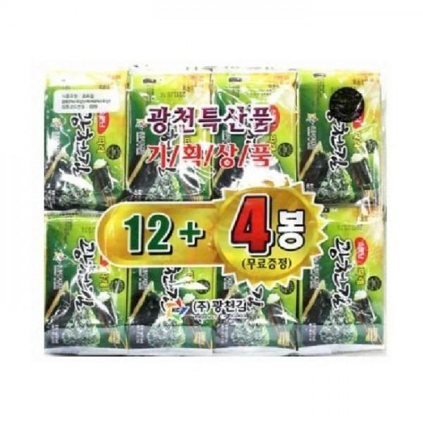 Algues séchées instantanées assaisonnées KC KR 5g 12+4(free) X (8)