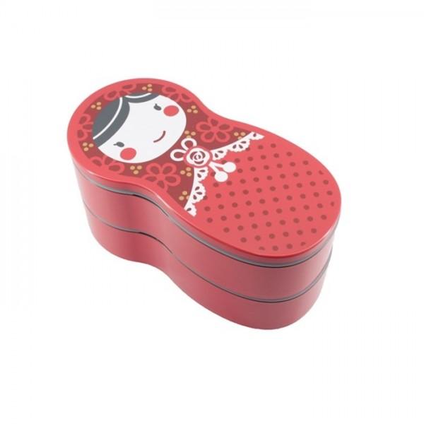 Bento poupée russiee rouge 540ml 50746