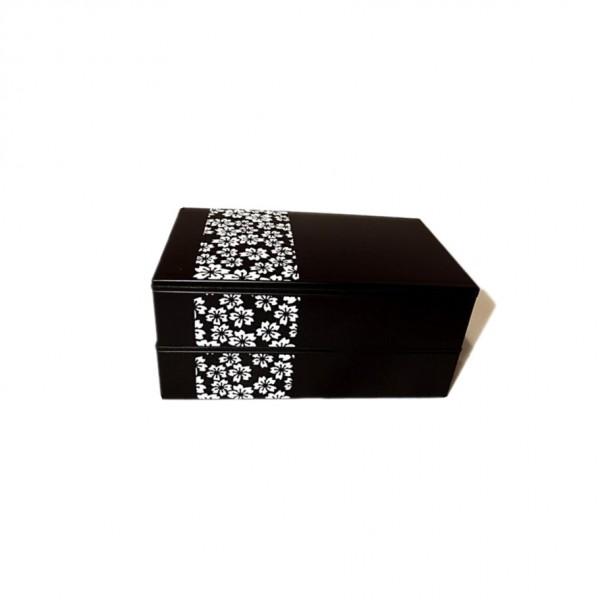 Bento motif sakura blanc 600ml 52686-8