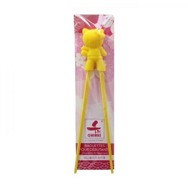 Baguettes pour débutants cartoonn Hello Kitty jaunes