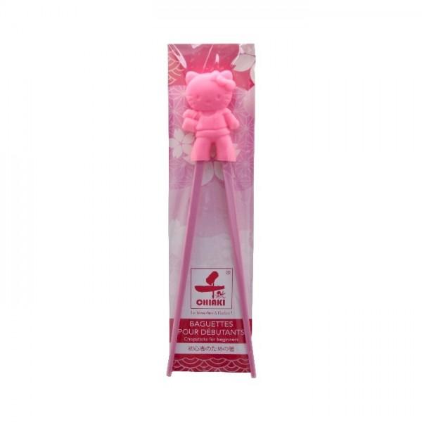 Baguettes pour débutants cartoonn Hello Kitty roses